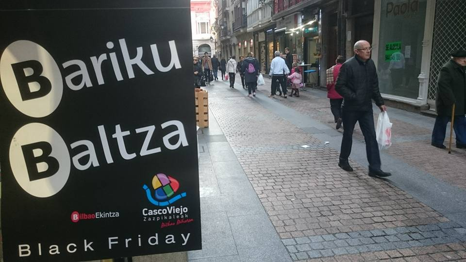 Bariku Baltza, el Black Friday del Casco Viejo de Bilbao