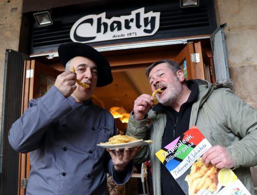 Alberto Alonso (bar Charly) y Unai Aizpuru, pte Asociación Comerciantes